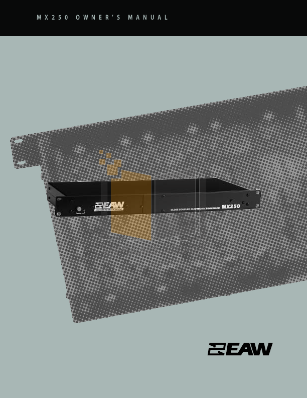 pdf for Eaw Speaker System SB850P manual