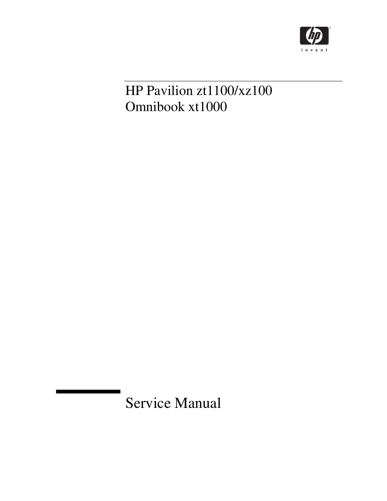 pdf for HP Laptop Pavilion ZT1141 manual