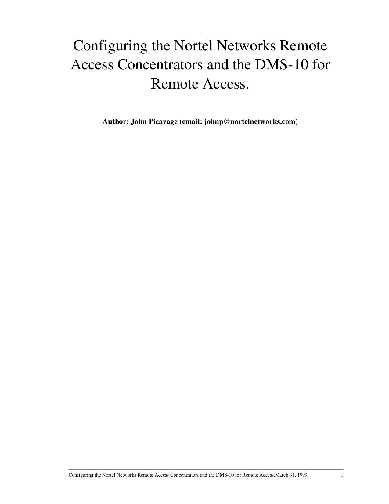 pdf for Nortel Switch DMS-10 manual