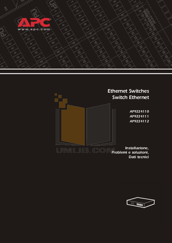 pdf for APC Switch AP9224111 manual