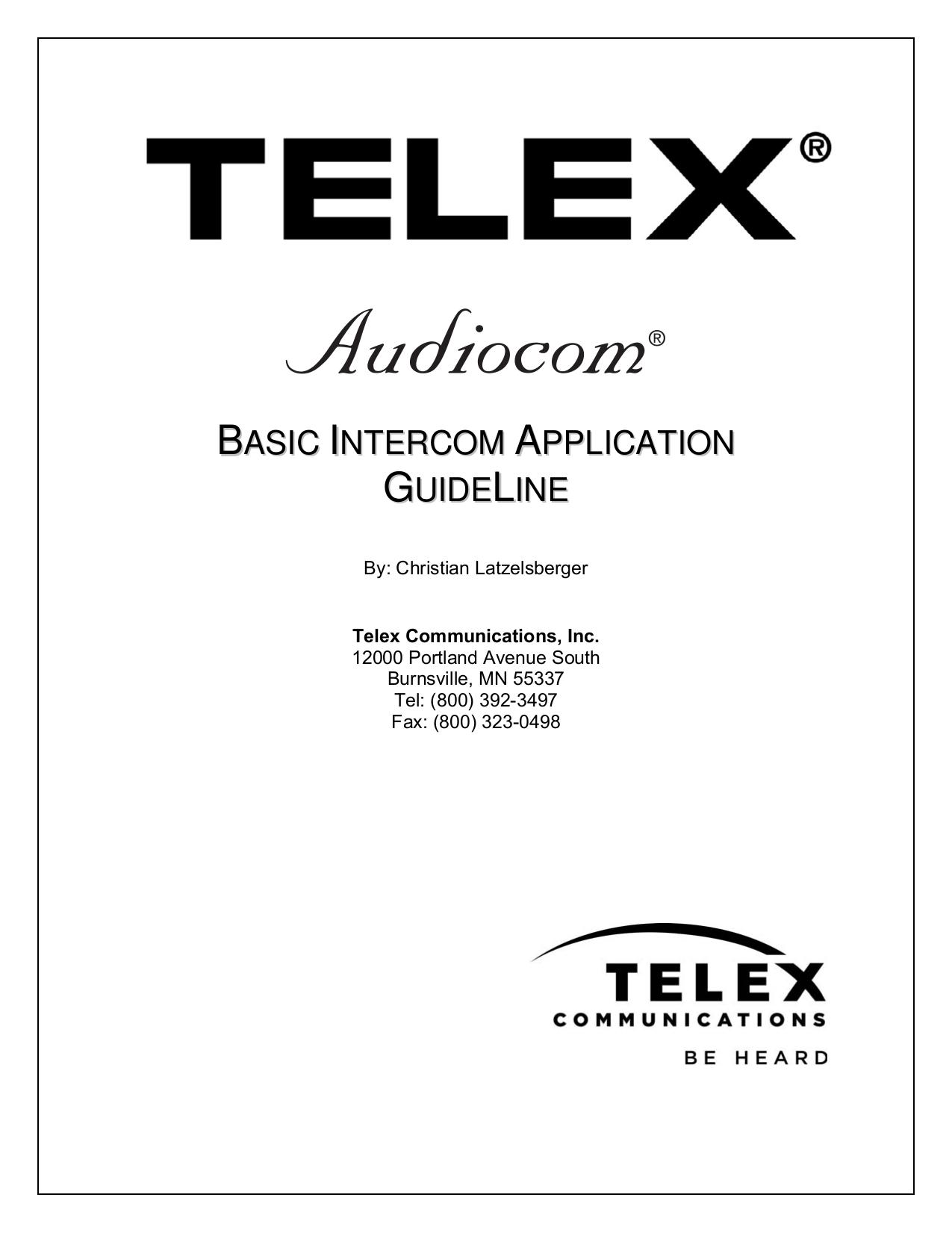 pdf for telex bp 1000 intercom system other manual pdf for telex other bp 1000 intercom system manual
