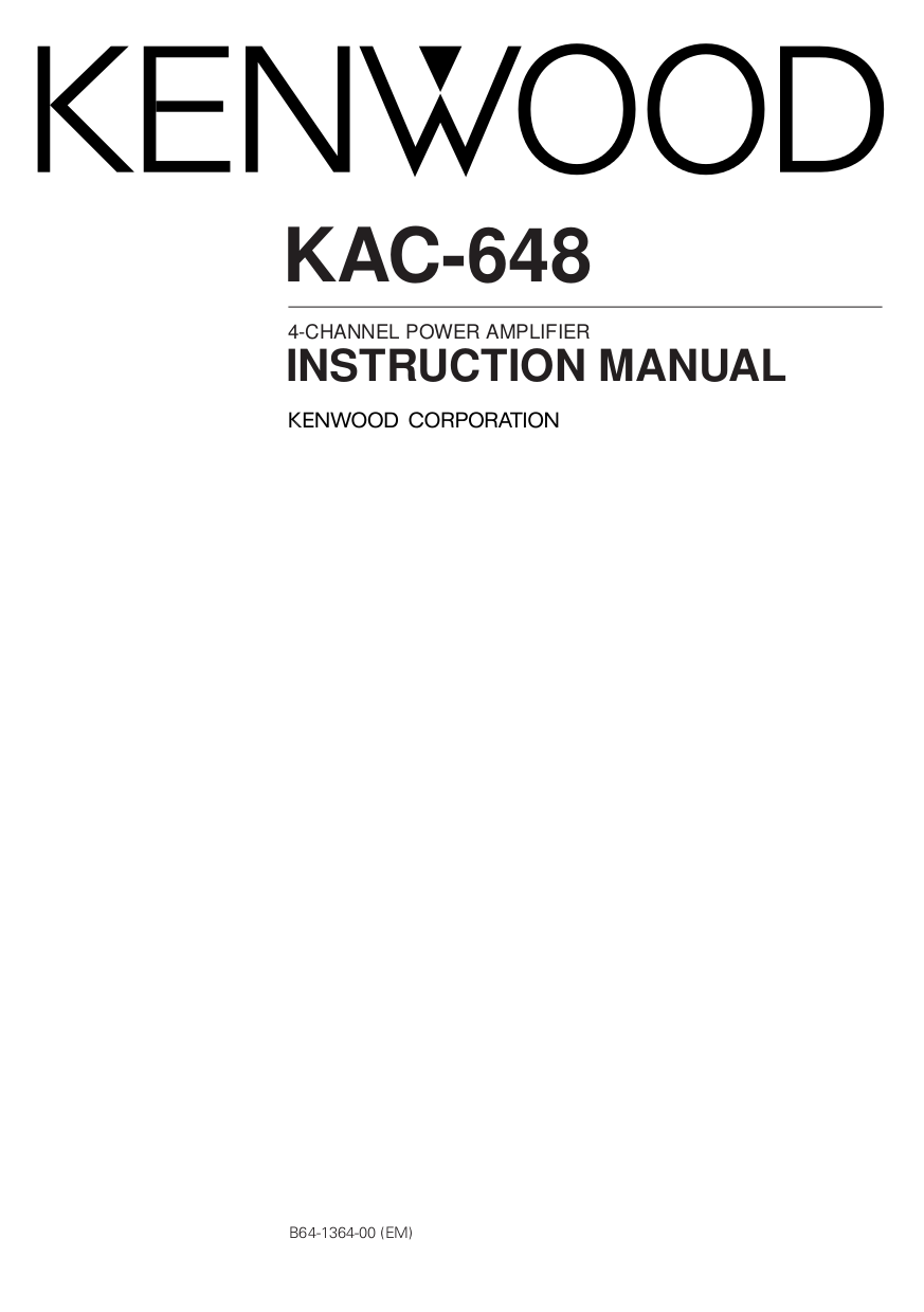 B64 1364 00.pdf 0 download free pdf for kenwood kac 648s car amplifier manual kenwood kac 7201 wiring diagram at alyssarenee.co