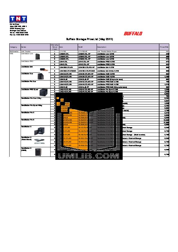 pdf for Buffalo Storage HD-HS2.0TQ manual