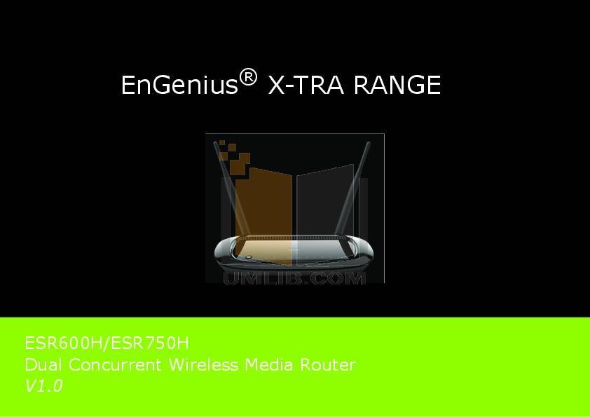 pdf for EnGenius Wireless Router ESR-300H manual