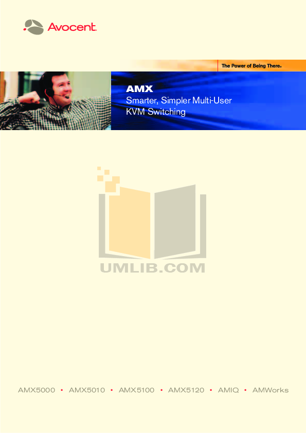 pdf for Avocent Switch AMX5120 manual
