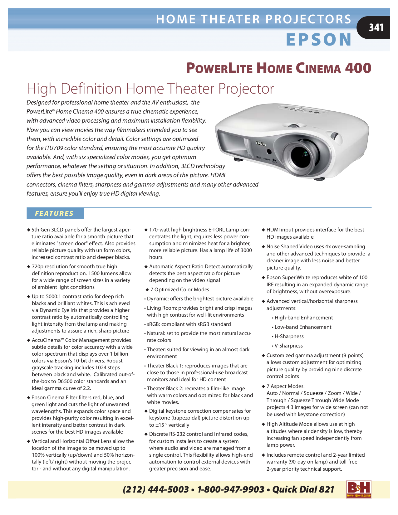 Optoma Projector HD72 pdf page preview