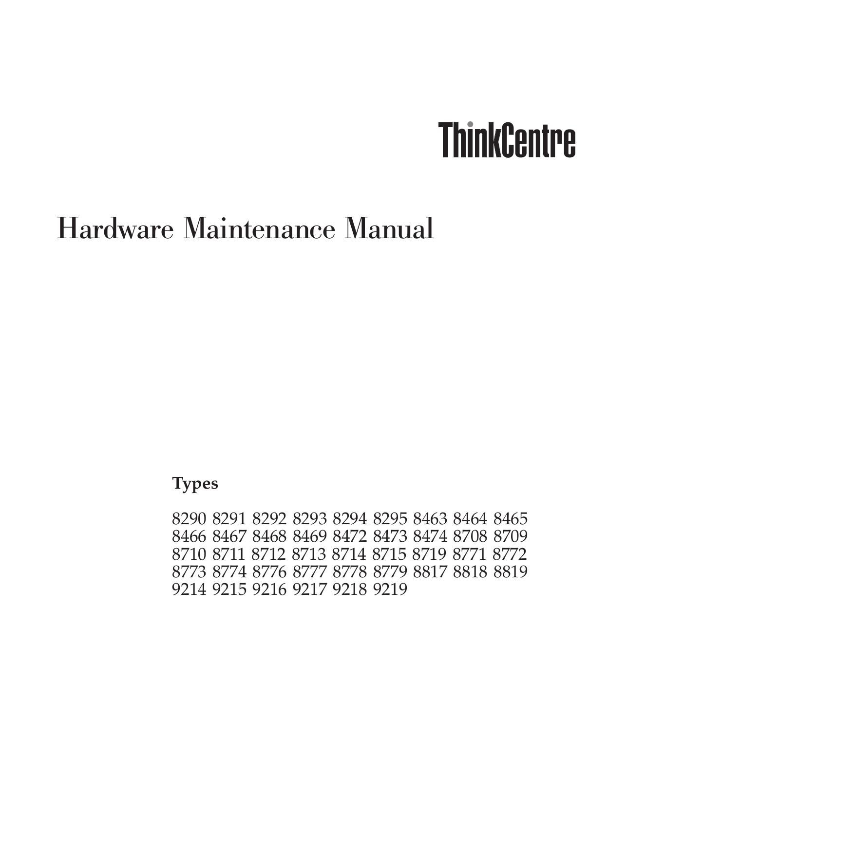pdf for Lenovo Desktop ThinkCentre E50 8773 manual