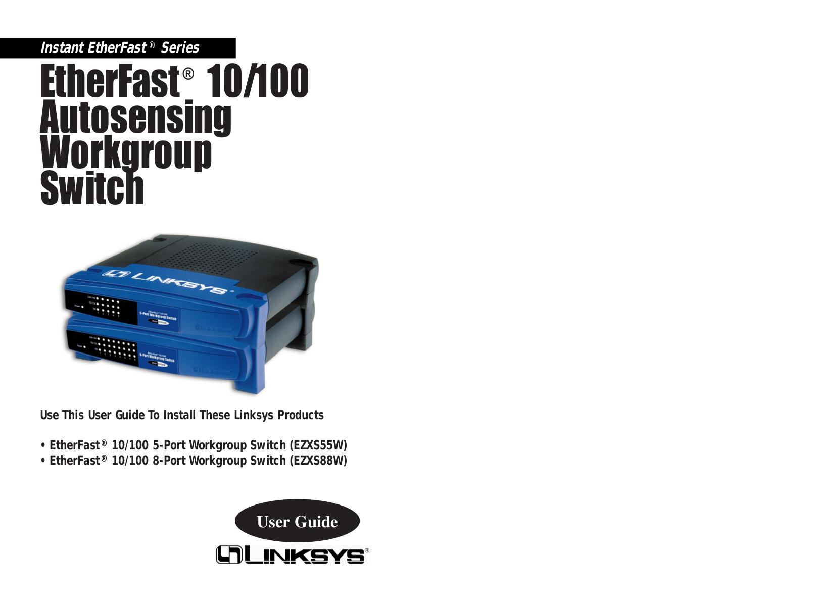 download free pdf for linksys ezxs88w switch manual rh umlib com Linksys EZXS88W Manual PDF Linksys Switch 10 100