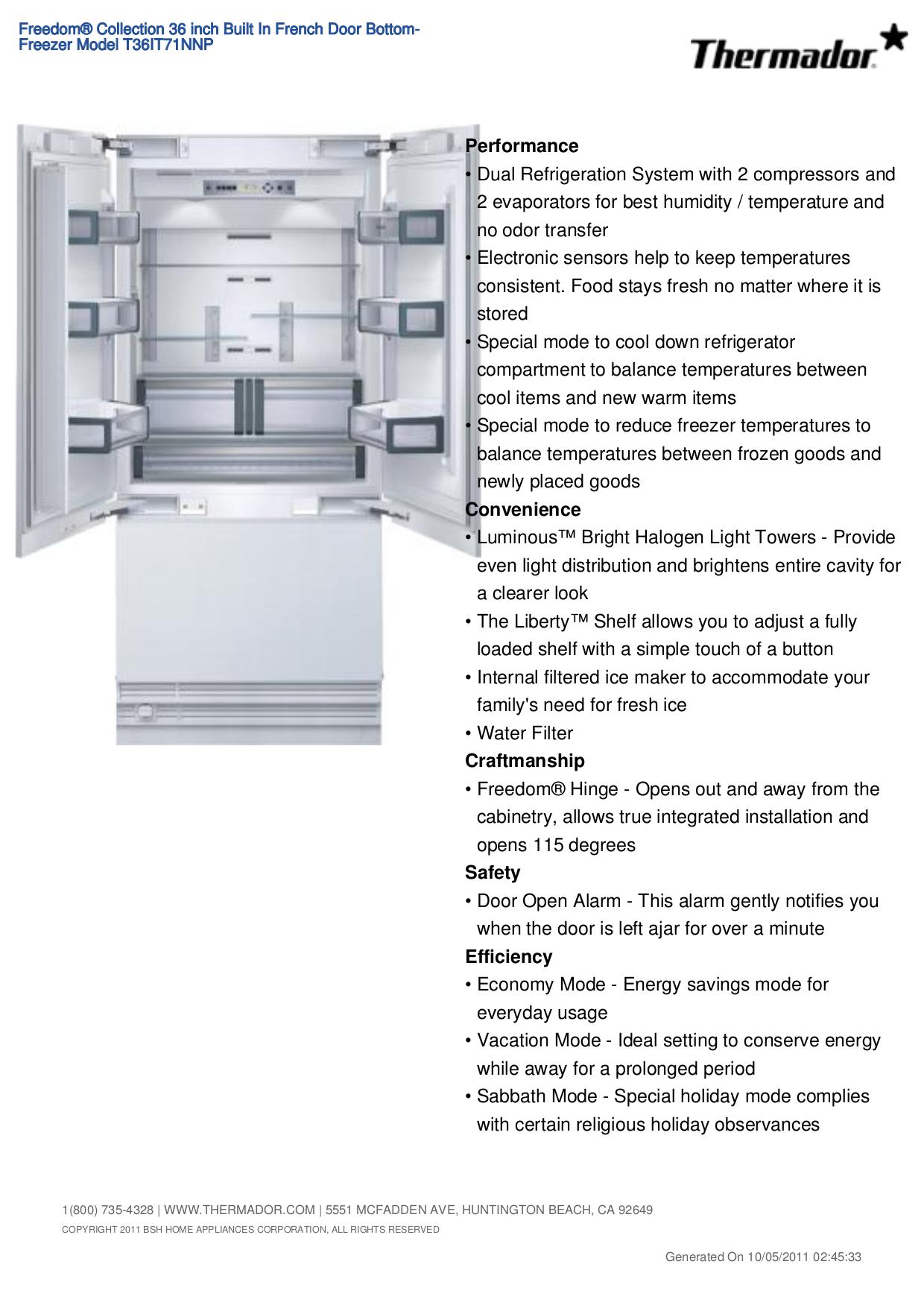 download free pdf for thermador freedom t36it71nnp refrigerator manual rh umlib com thermador refrigerator service manual thermador refrigerator repair manual
