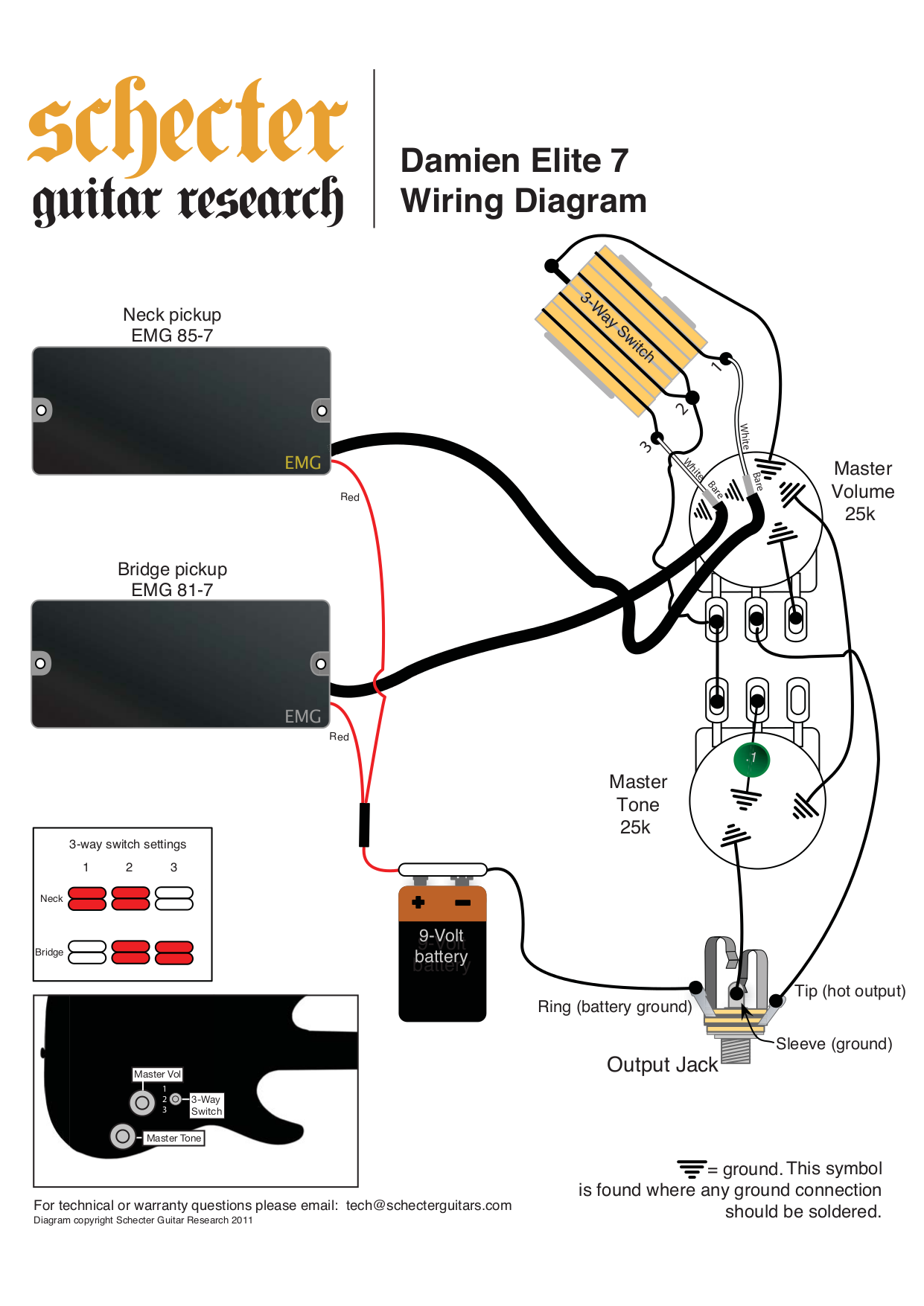 Damien Elite 7.pdf 0 100 [ schecter wiring diagram schecter c ] strat wiring diagram Schecter Diamond Series Wiring Diagram at nearapp.co