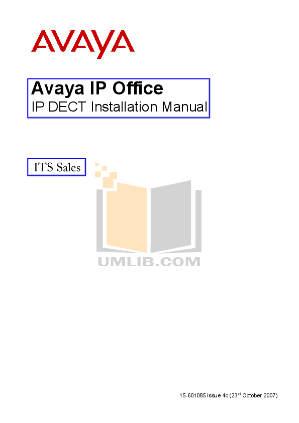 pdf for Avaya Telephone 3701 manual