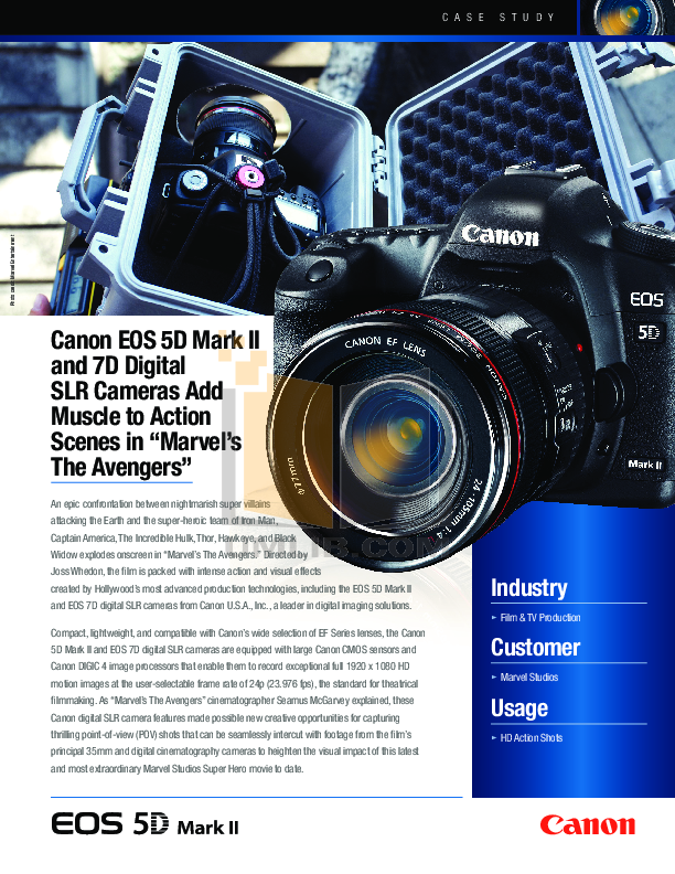 Canon Digital Camera EOS 7D pdf page preview
