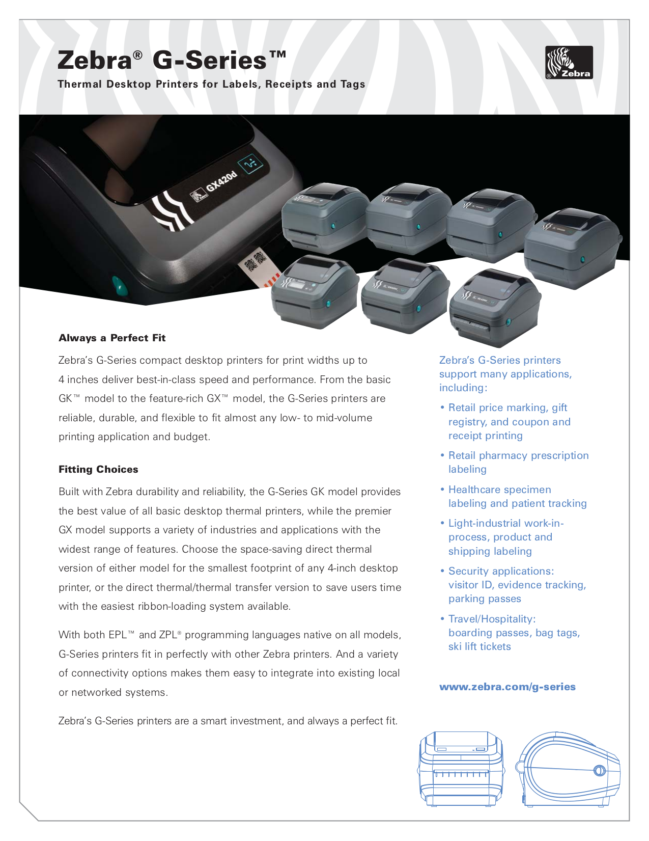 Download free pdf for Zebra GX420d Printer manual