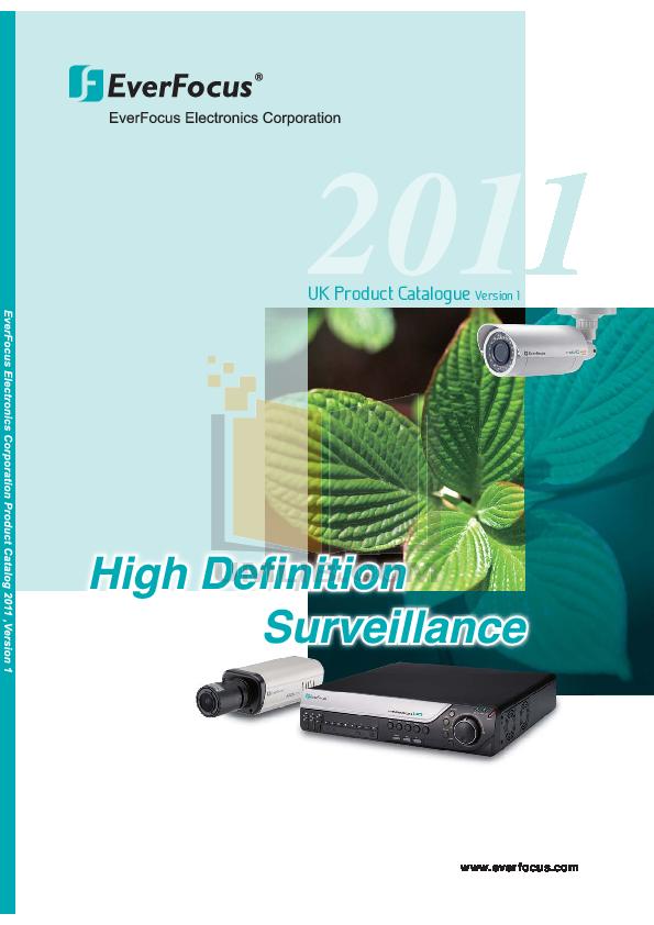 pdf for EverFocus Security Camera EQH5200 manual