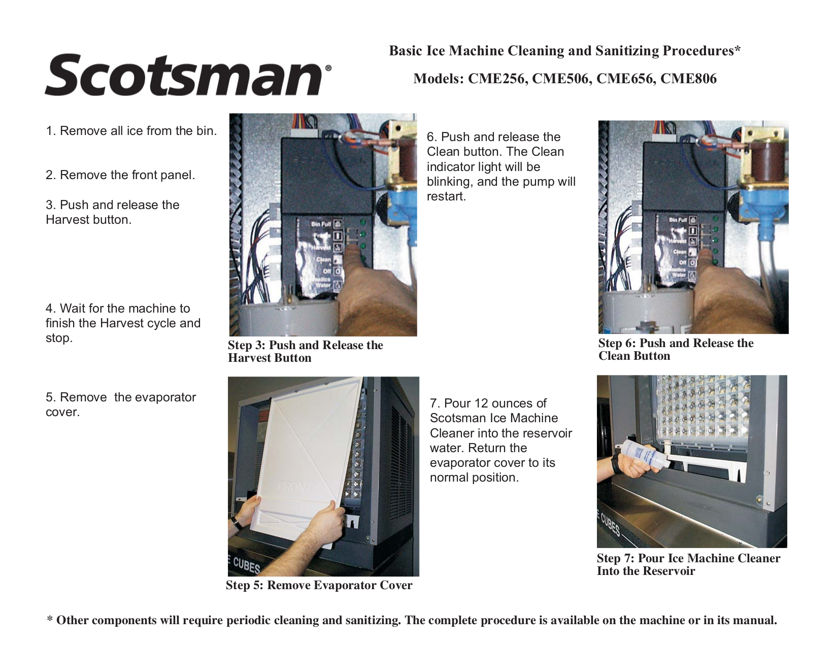 Download free pdf for scotsman cme656 ice machine other manual.