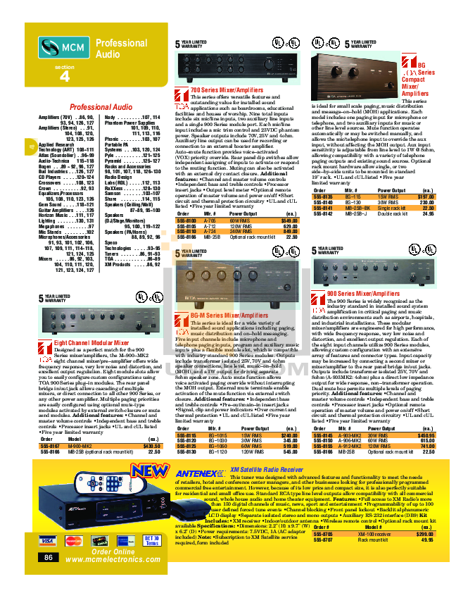 pdf for Crown Other 140MPA Mixer-Amplifier-Combo manual