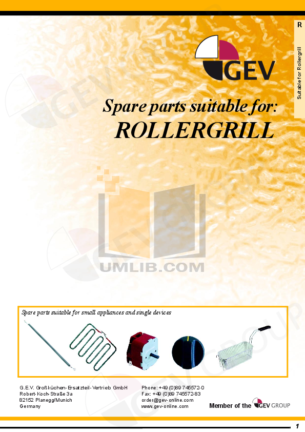 pdf for Equipex Grill PANINI XLE manual