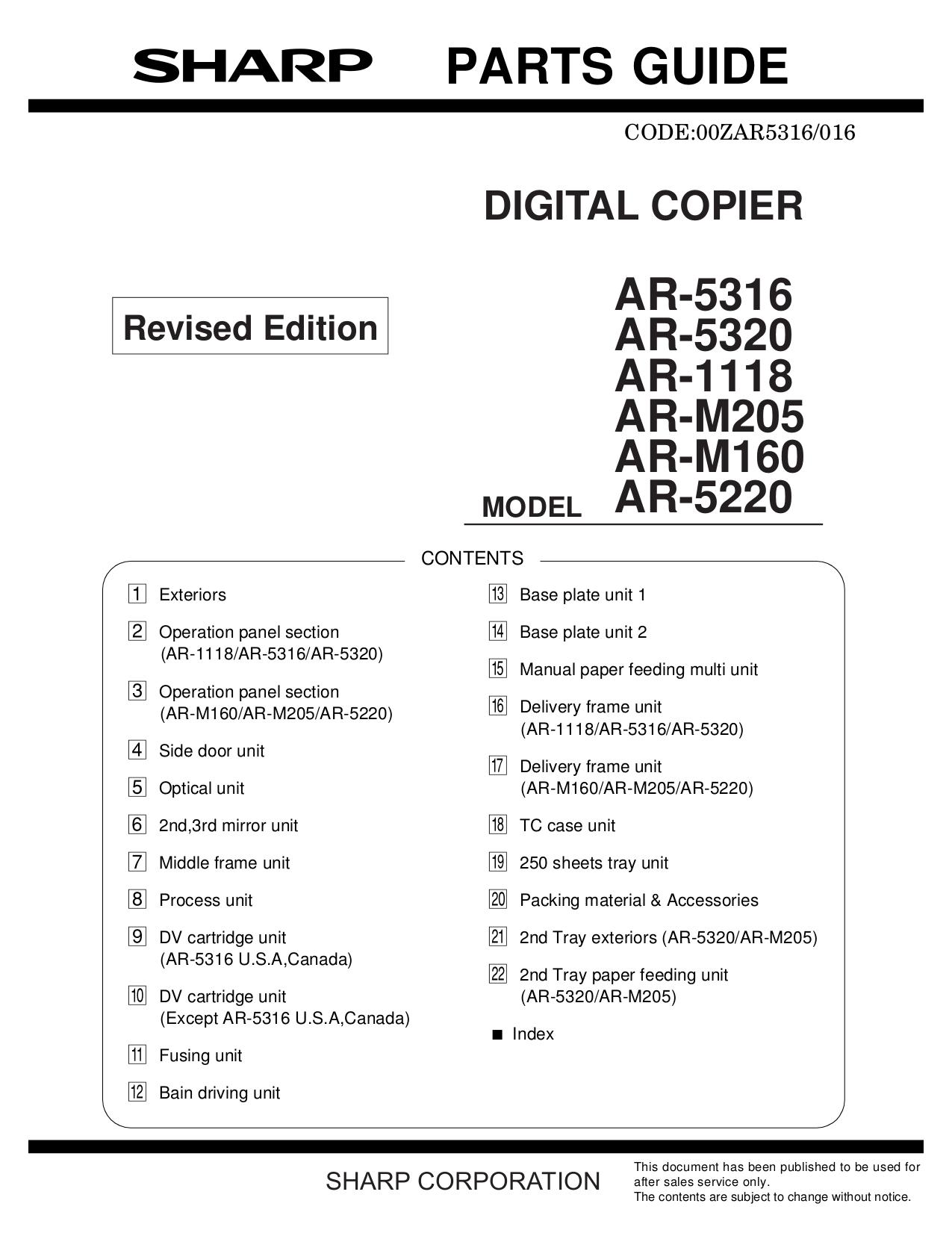 download free pdf for sharp ar 5316 copier manual rh umlib com sharp ar-5316 manual pdf sharp ar 5316 service manual free download