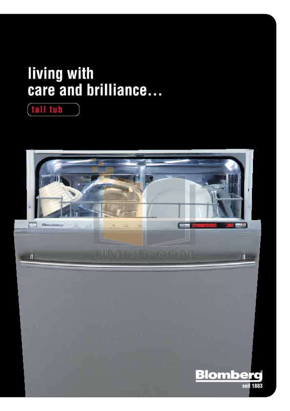 pdf for Blomberg Dishwasher DWT35200 manual