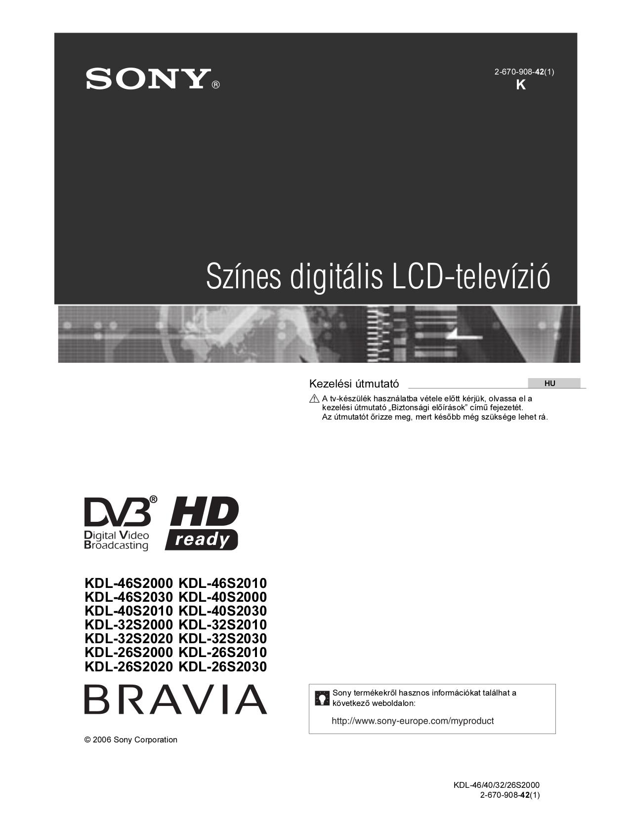 download free pdf for sony bravia kdl 46s2010 tv manual rh umlib com Sony BRAVIA Replacement Parts Sony BRAVIA Remote Manual