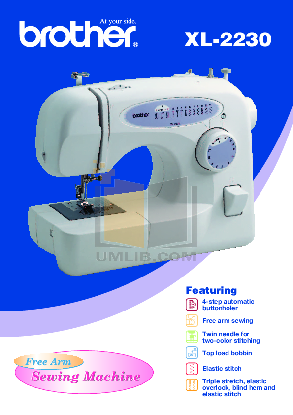 Download Free Pdf For Brother XL40 Sewing Machines Other Manual Best Brother Xl 2230 Sewing Machine