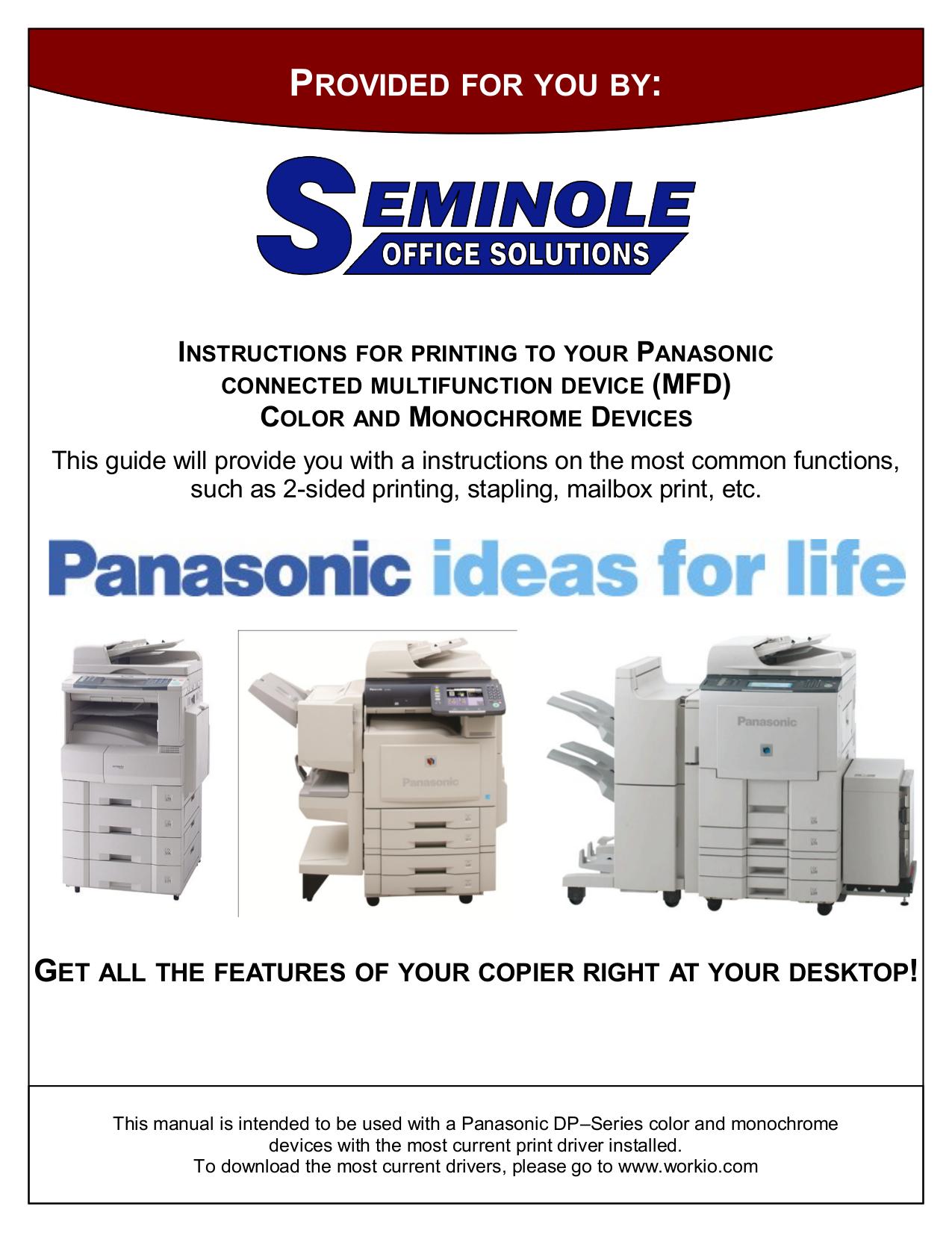 download free pdf for panasonic workio dp 8060 copier manual rh umlib com Panasonic Copier Drivers Panasonic Copier Drivers