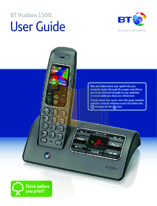 Bt 8528 telephone user manual
