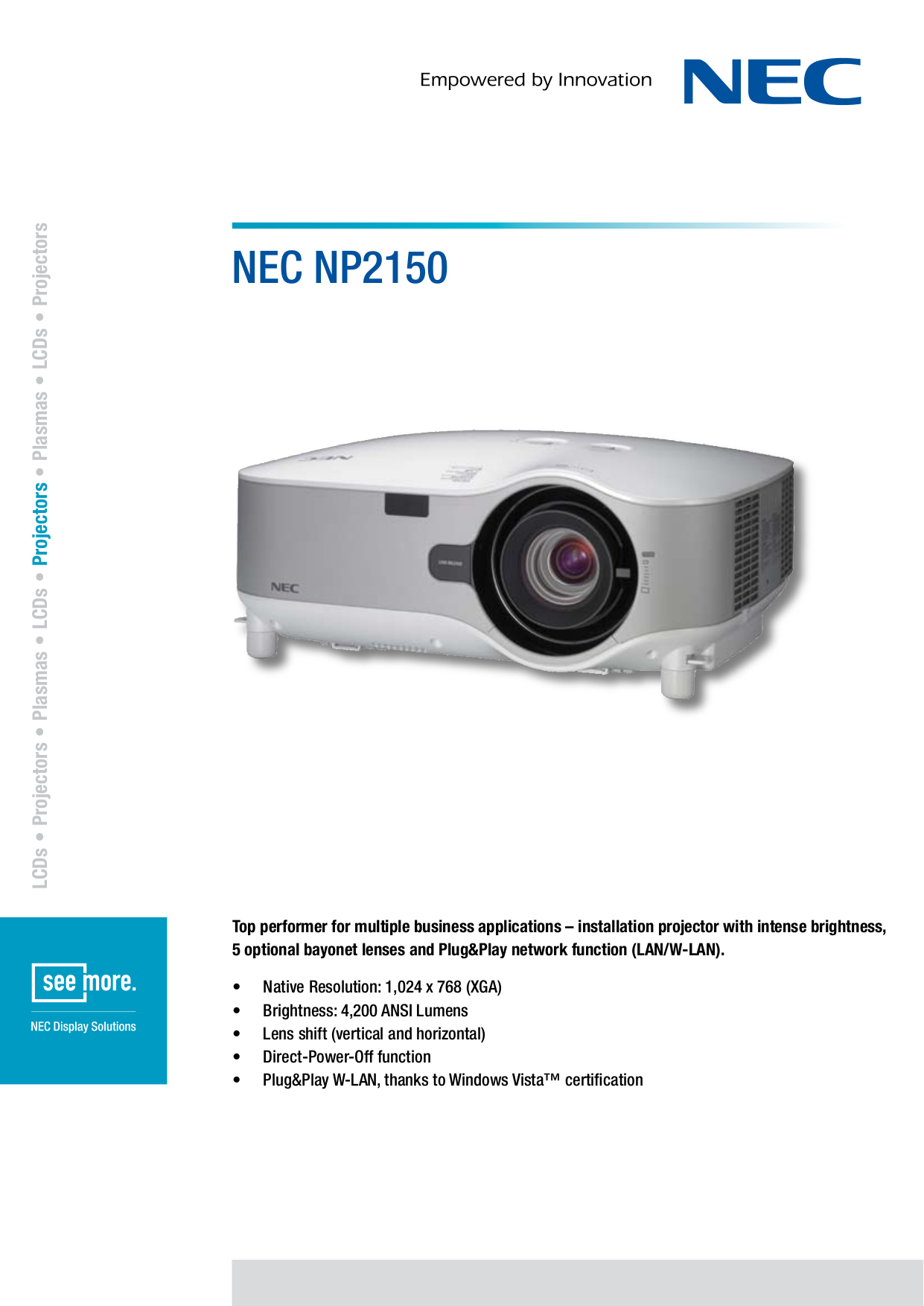 download free pdf for nec np2150 projector manual rh umlib com Old NEC Projectors NEC Projectors Troubleshooting