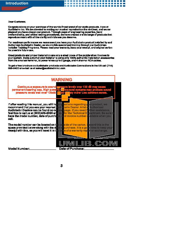 pdf manual for audiobahn car amplifier a1004dp rh umlib com Audiobahn Hcj Audiobahn Subwoofers