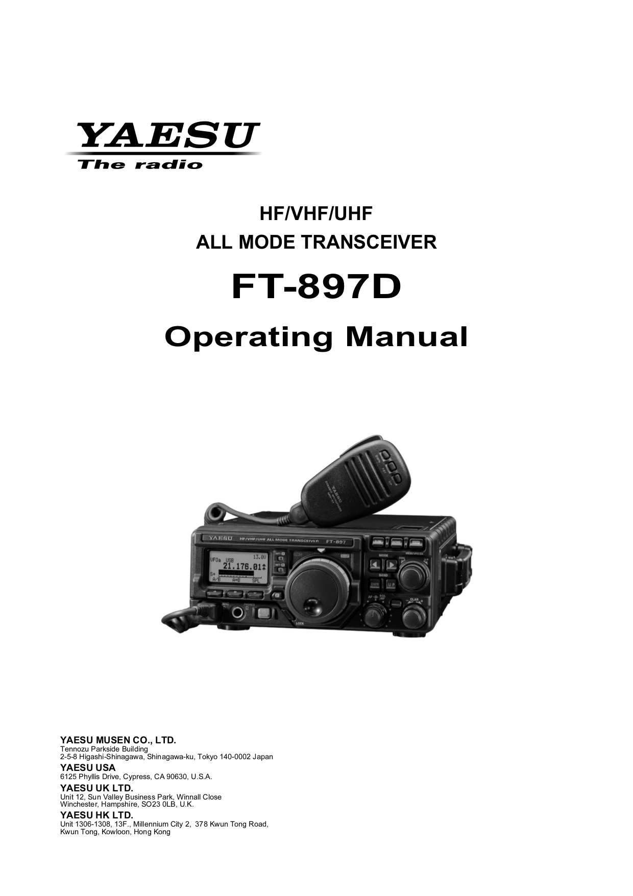 download free pdf for yaesu ft 897d hf transceiver other manual rh umlib com RigPix Yaesu FT 897 FT -897D Manual