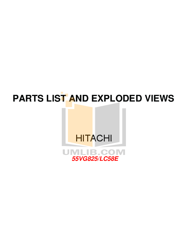pdf for Hitachi TV 55VG825 manual
