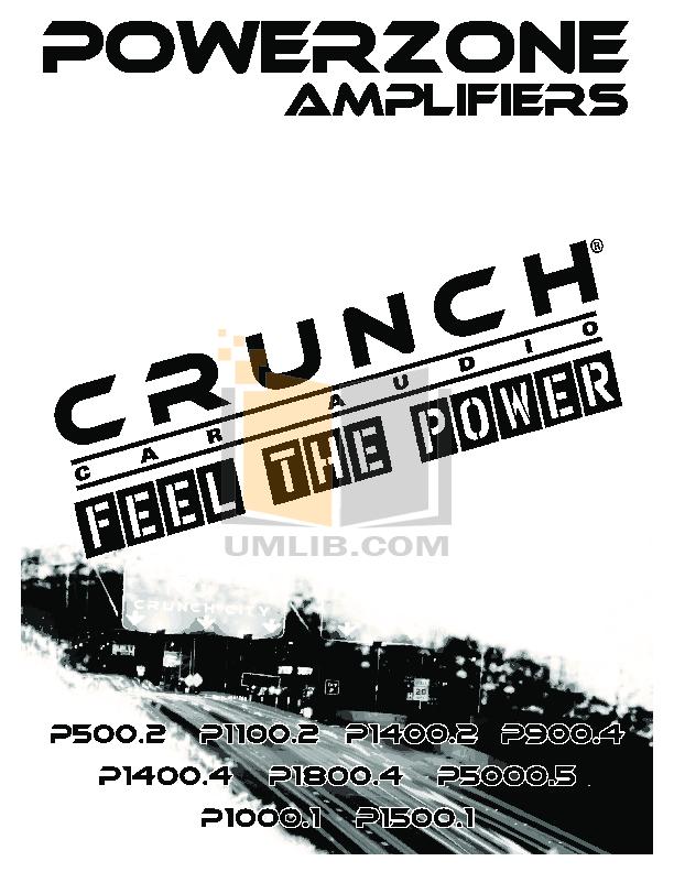 pdf for Crunch Car Amplifier PowerZone P1100.2 manual