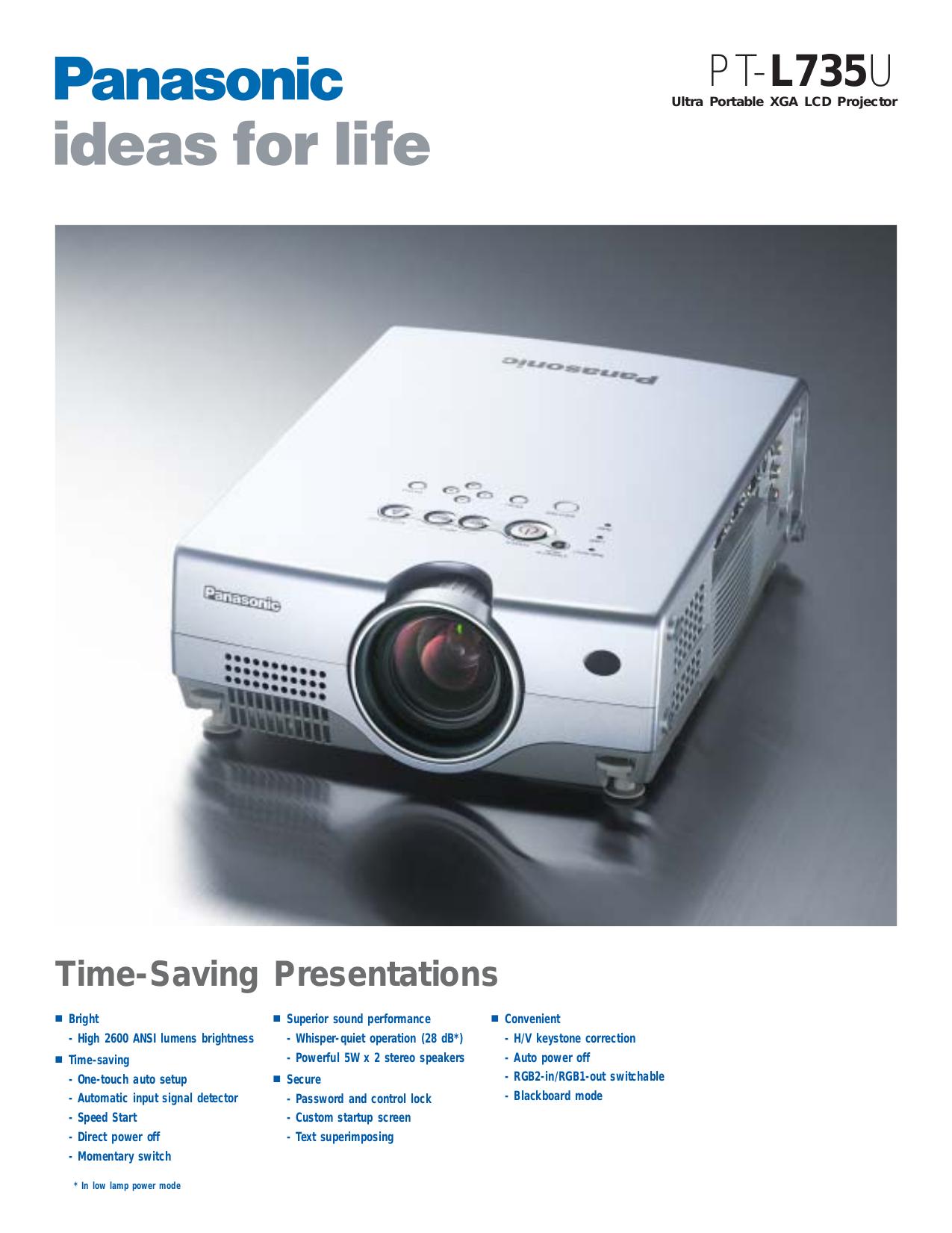 download free pdf for panasonic pt l735u projector manual rh umlib com