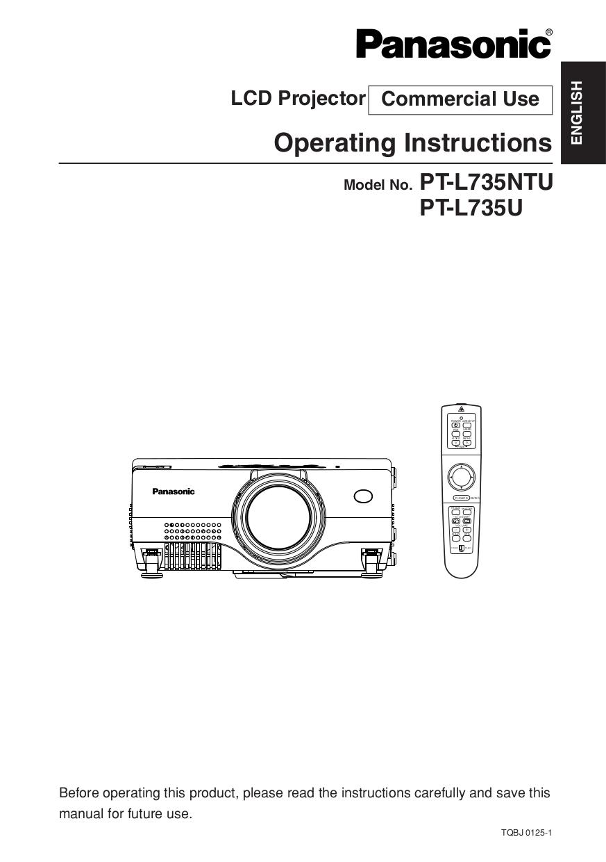 download free pdf for panasonic pt l735u projector manual rh umlib com  panasonic pt-l735u projector manual