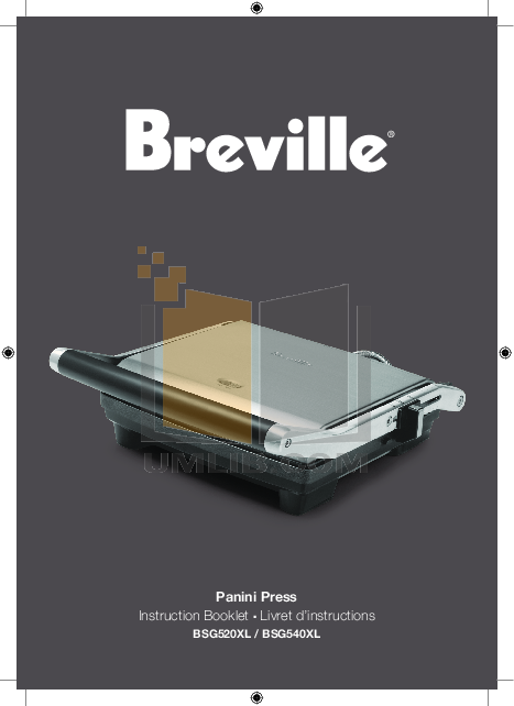 pdf for Breville Grill BSG520XL manual