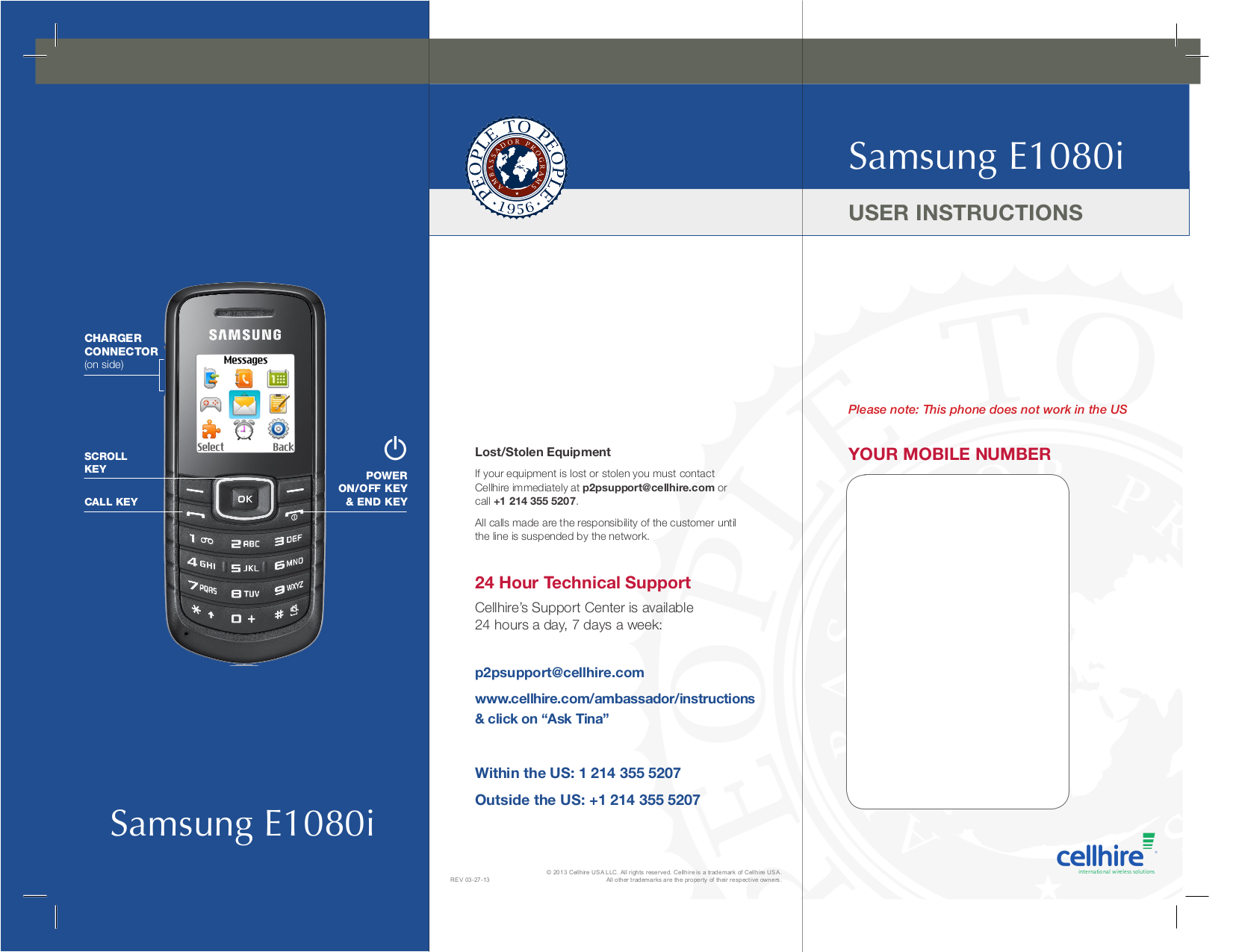 pdf for Samsung Cell Phone E1080 manual