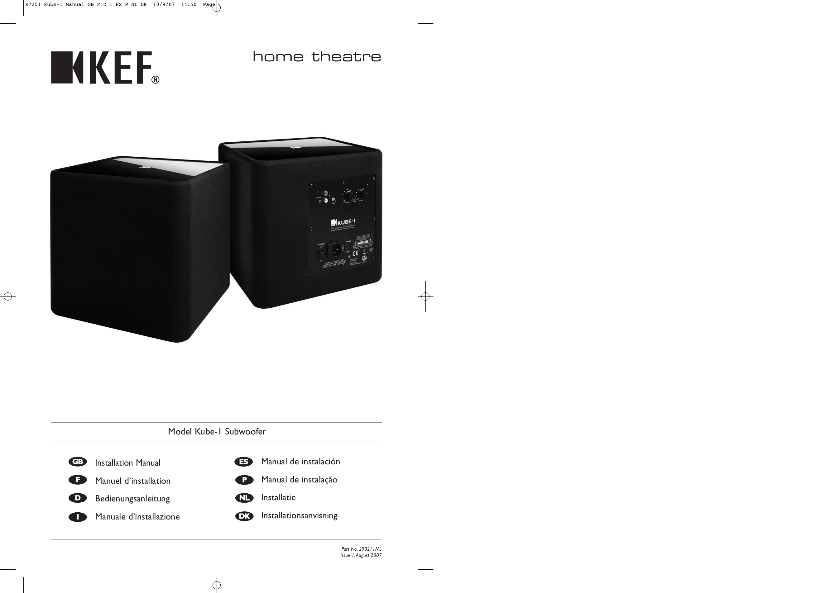 kef kube 1. pdf for kef subwoofer kube kube-1 manual kef kube 1