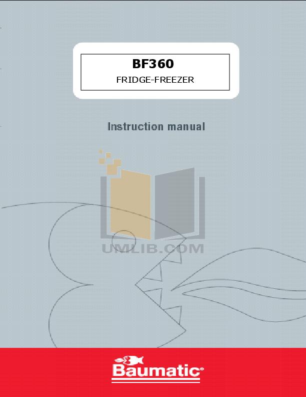 pdf for Baumatic Freezer BF360 manual