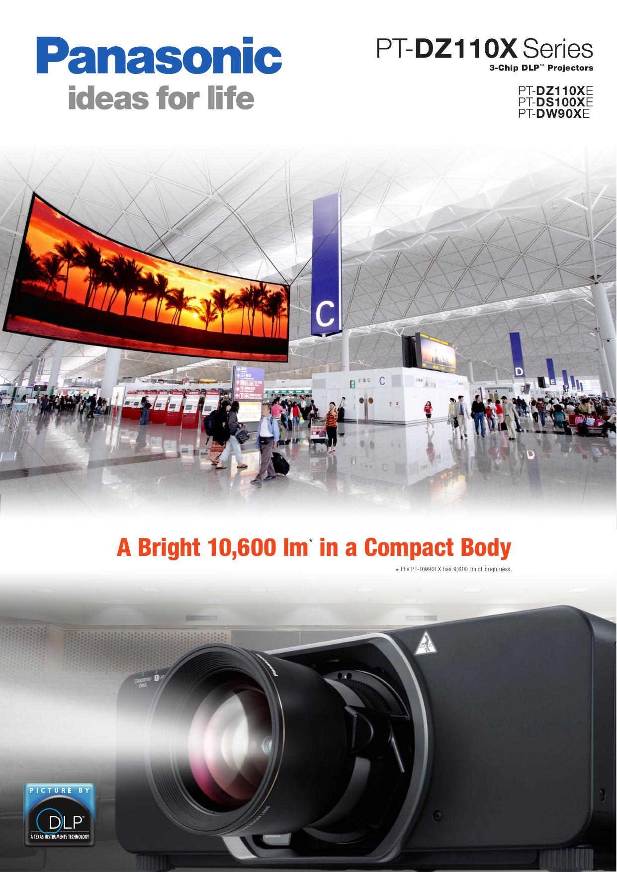 pdf for Panasonic Projector PT-D10000 manual