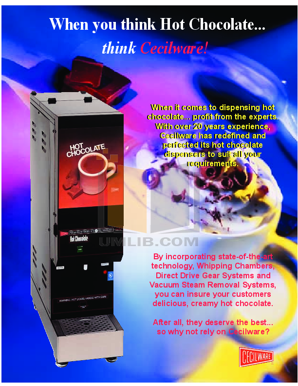 pdf for Cecilware Other WHIPPER MINI Dispensers manual