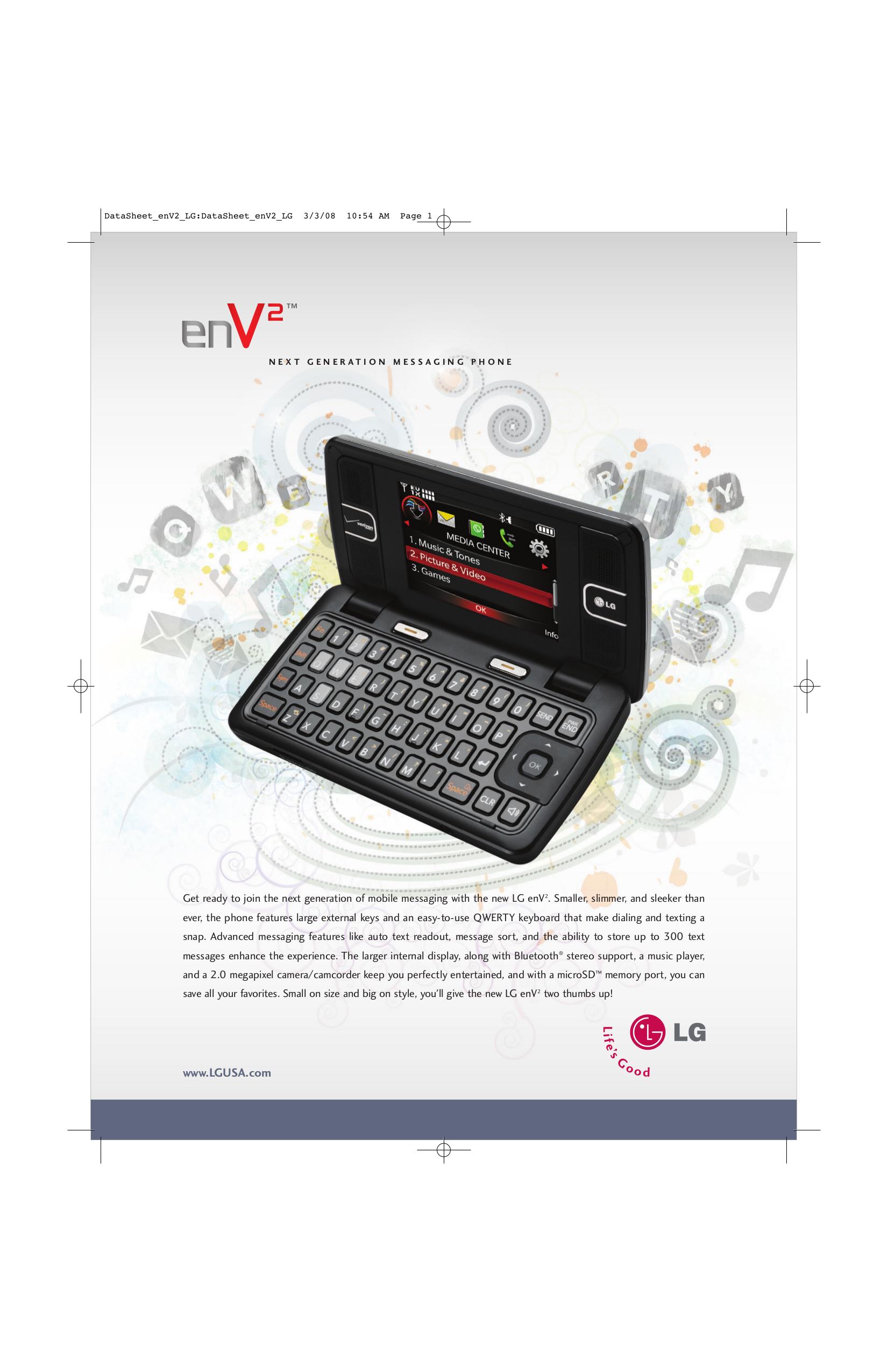 download free pdf for lg env2 cell phone manual rh umlib com LG VX9100 Cell Phone Verizon Wireless LG enV2 Phone