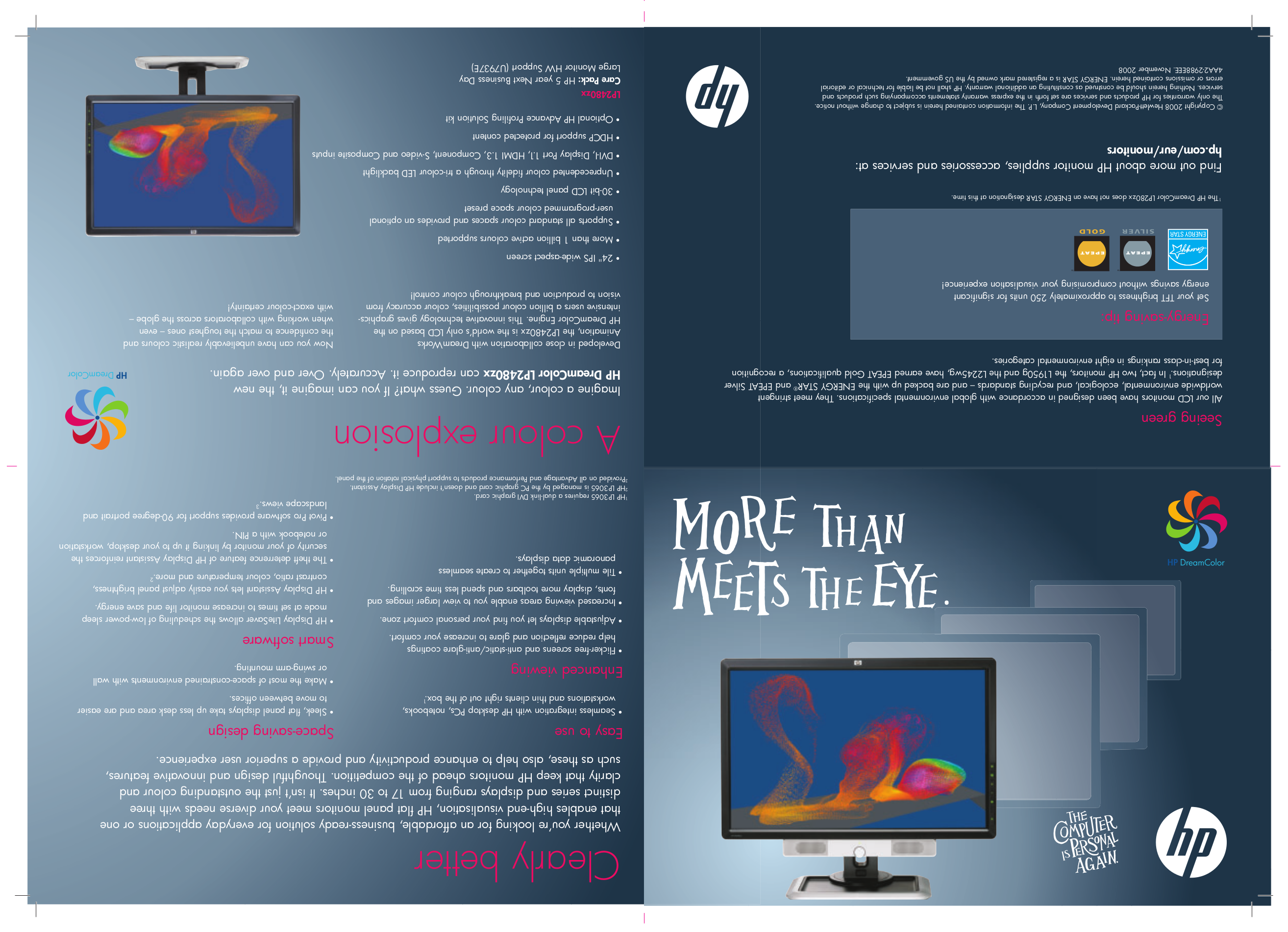 Connecting the cables | hp l1910 19-inch lcd monitor user manual.