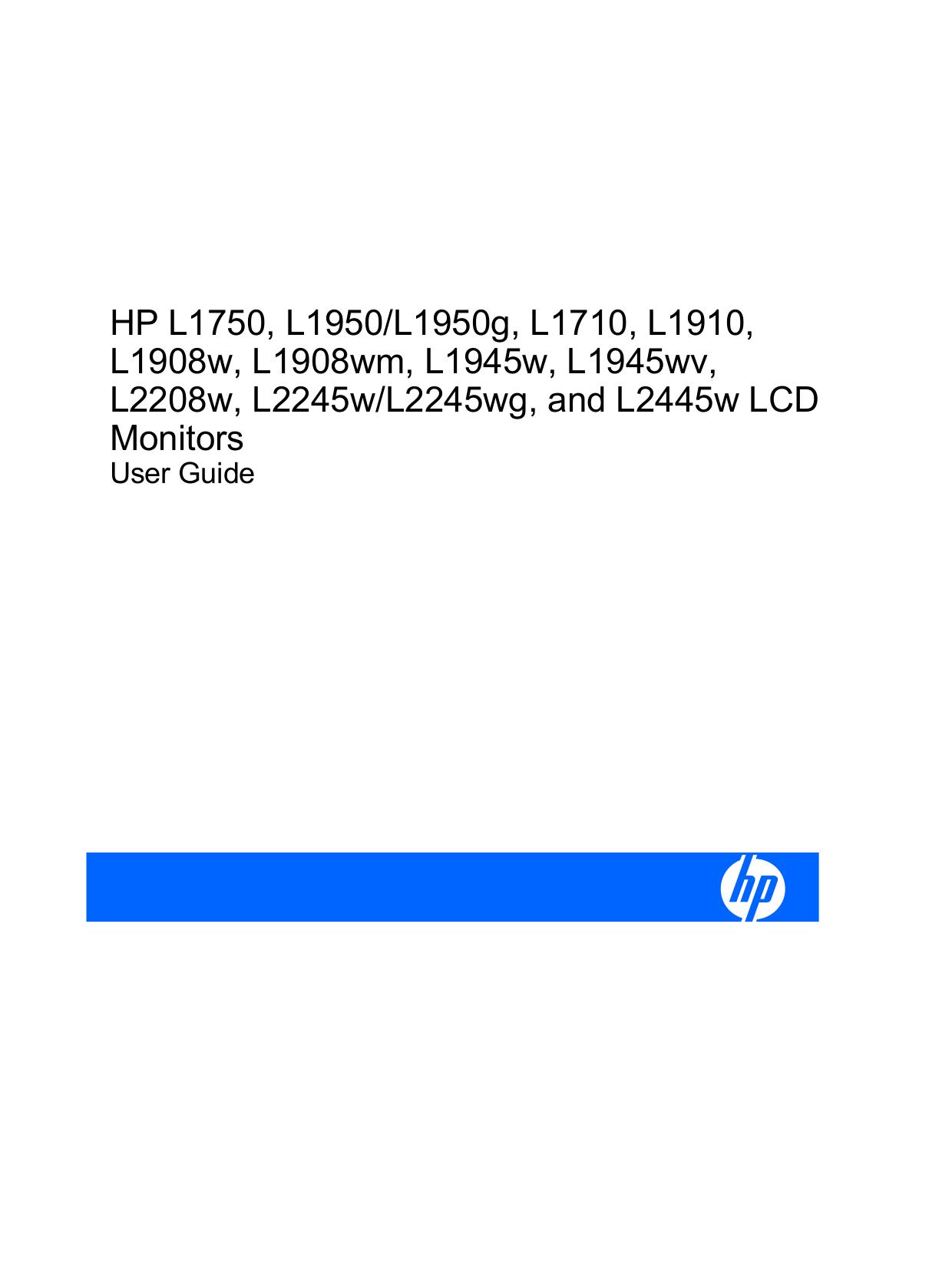 Hp l2445w user manuals download.