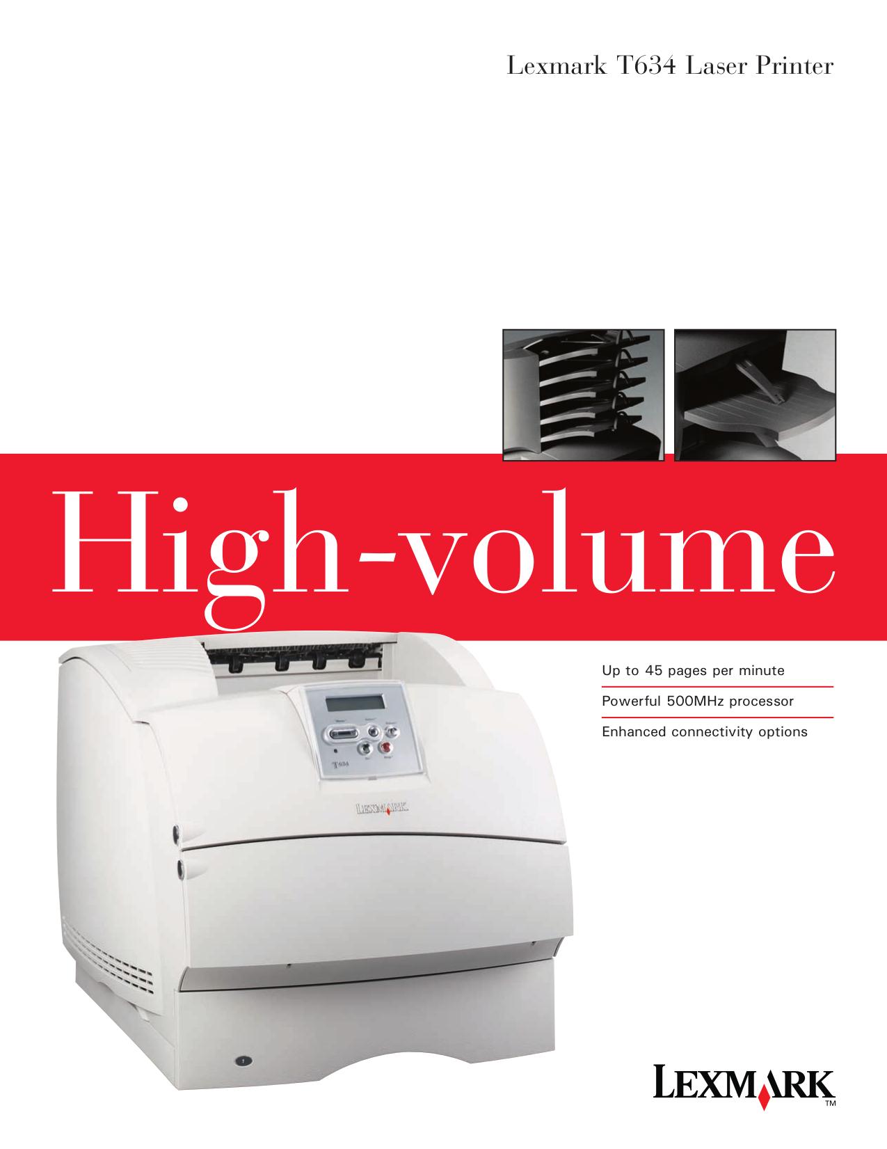pdf for Lexmark Printer T634dtnf manual