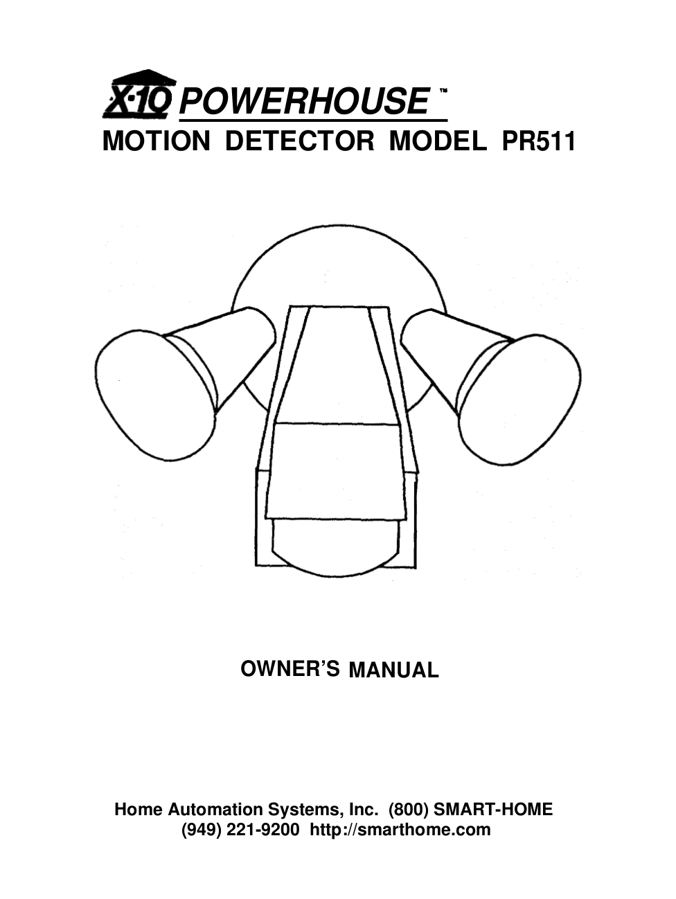 PDF manual for X10 Other MC460 Home Automation System on