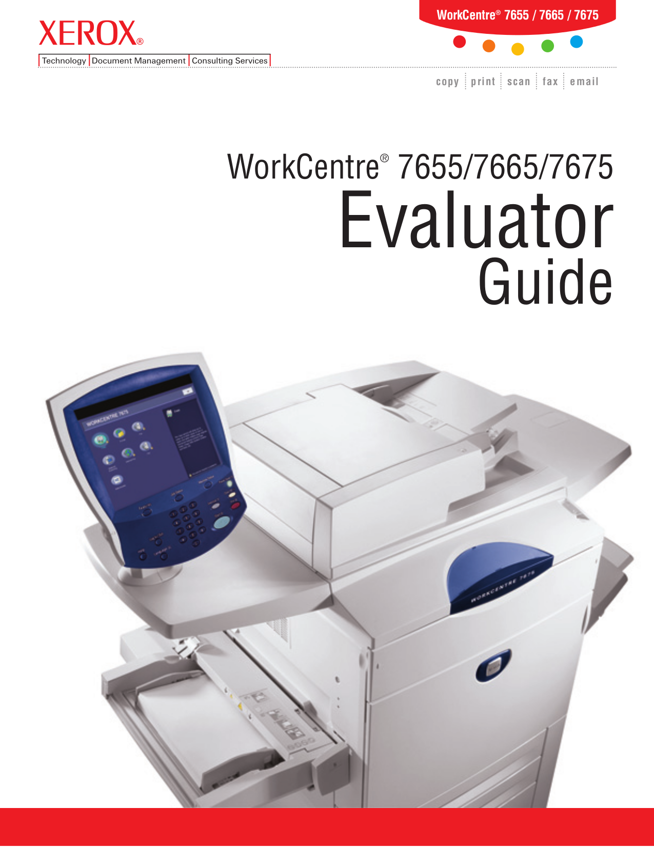 pdf for Xerox Multifunction Printer WorkCentre 7655 manual