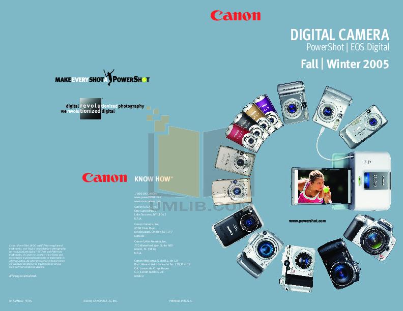 pdf for Canon Digital Camera Powershot SD550 manual