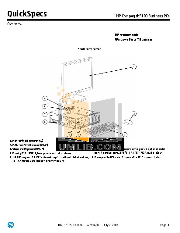 download free pdf for hp compaq dc5100 mt desktop manual rh umlib com hp computer manuals download hp desktop 460 manual
