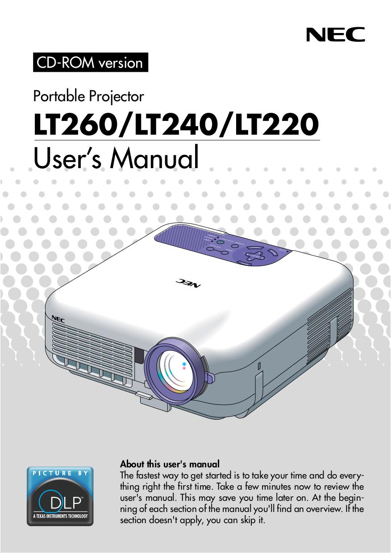 download free pdf for nec lt240 projector manual rh umlib com NEC Projectors Offical Web Site NEC Overhead Projector