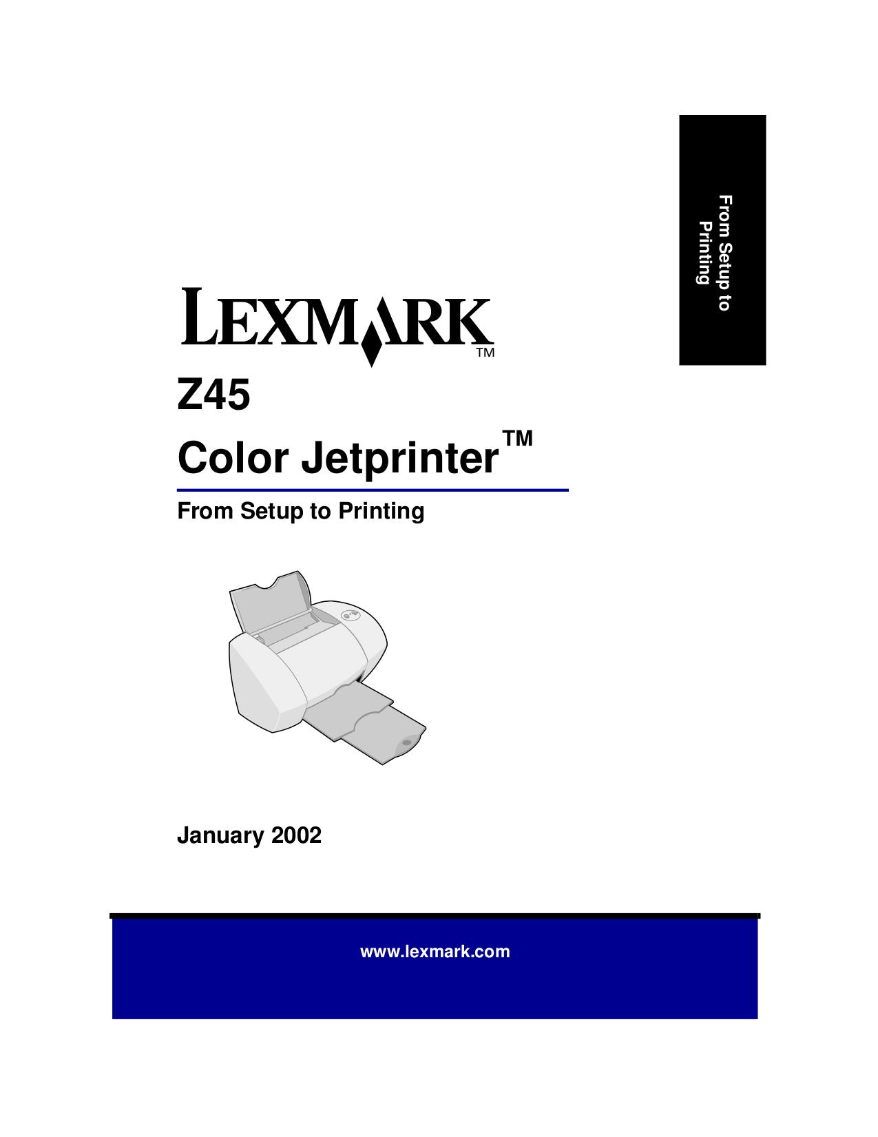 pdf for Lexmark Printer Z45 manual